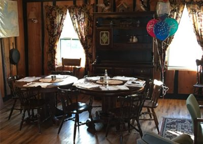 lodge party set up